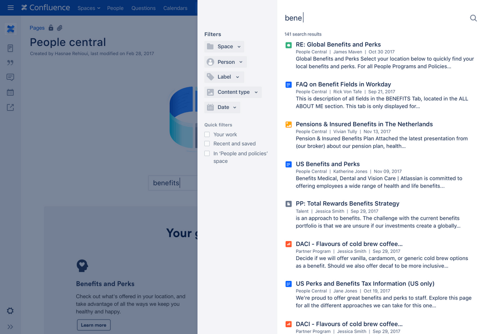 Search in Confluence
