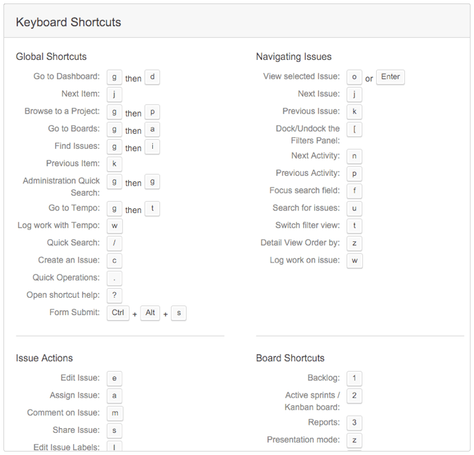 guide to jira keyboard shortcuts