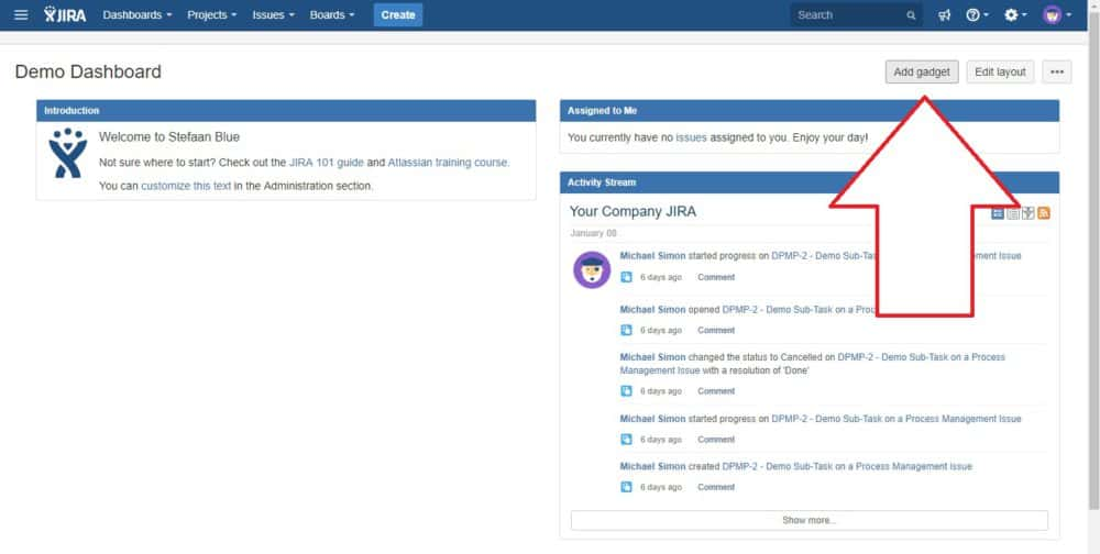 How to customize your dashboard in Jira