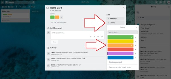 Adding Labels in Trello