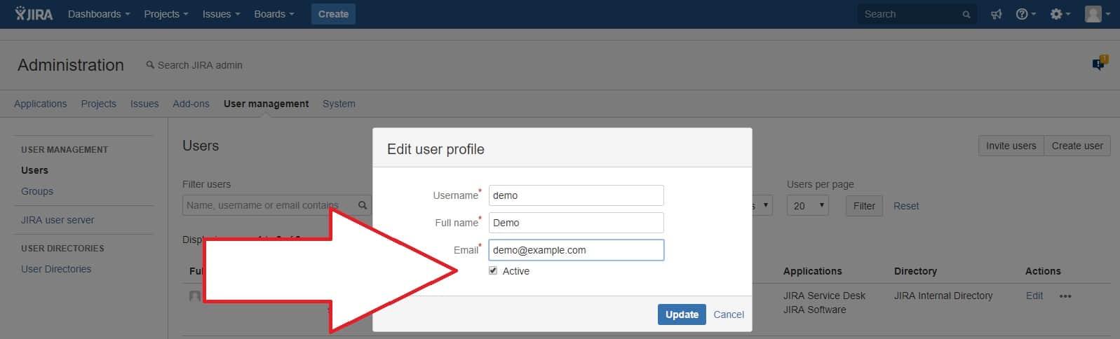Deactivate user in Jira for GDPR