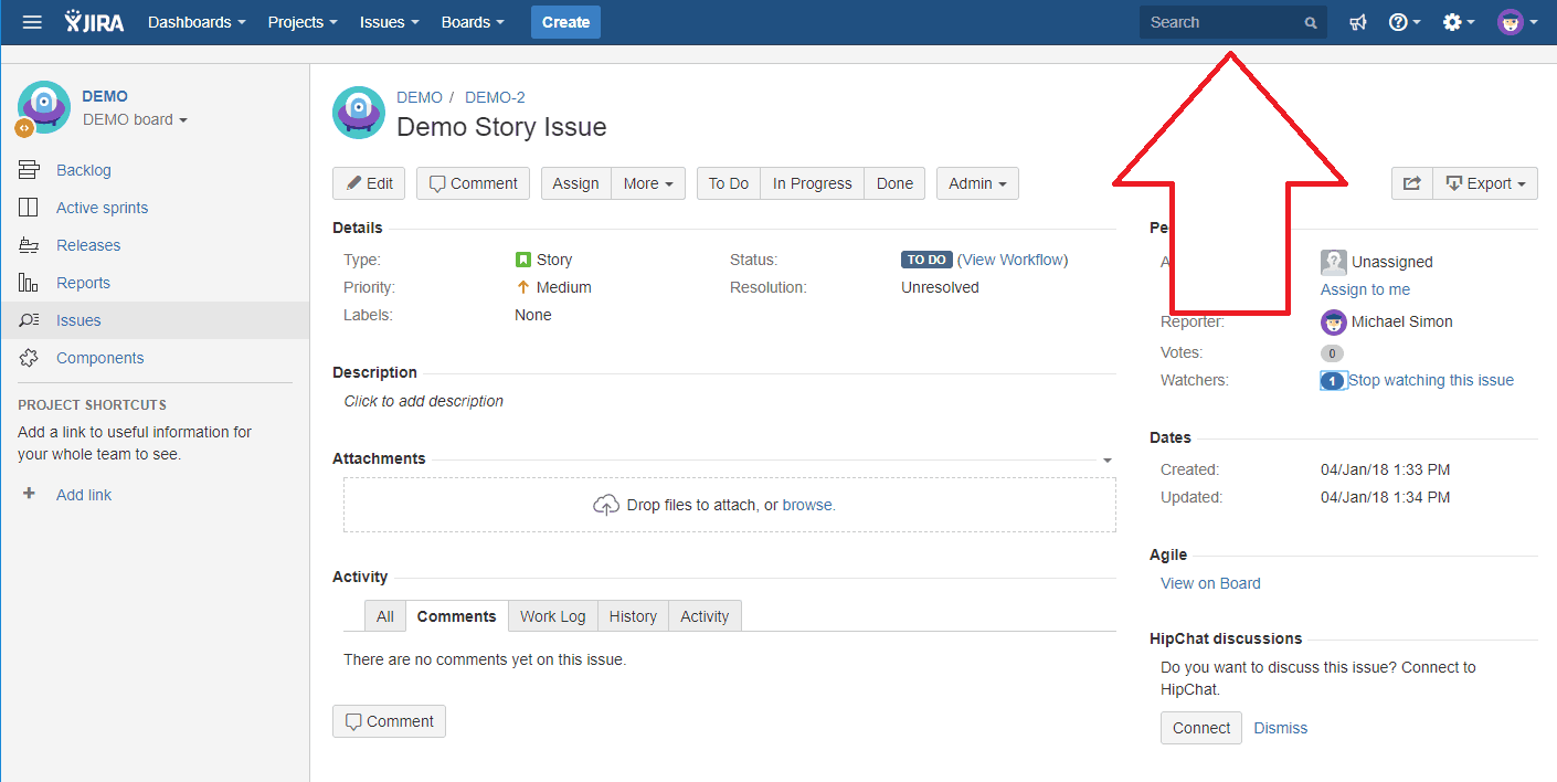 Search in Jira for GDPR