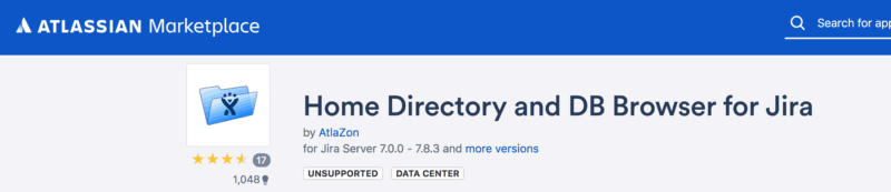 Home directory and DB Browser for Jira add on