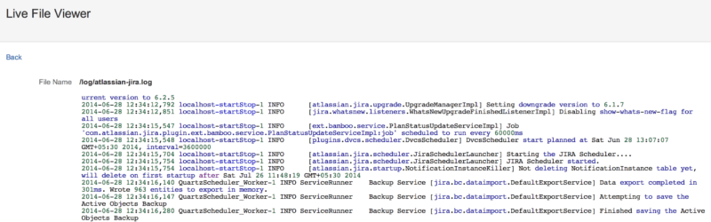 Console from home directory and DB Browser for Jira