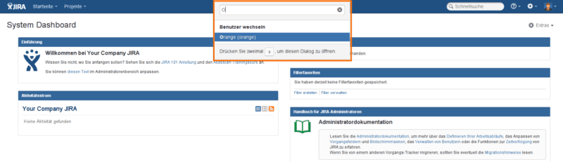 Use toolbar to switch account with free Jira add-on