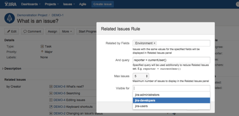 related issues free jira add-on