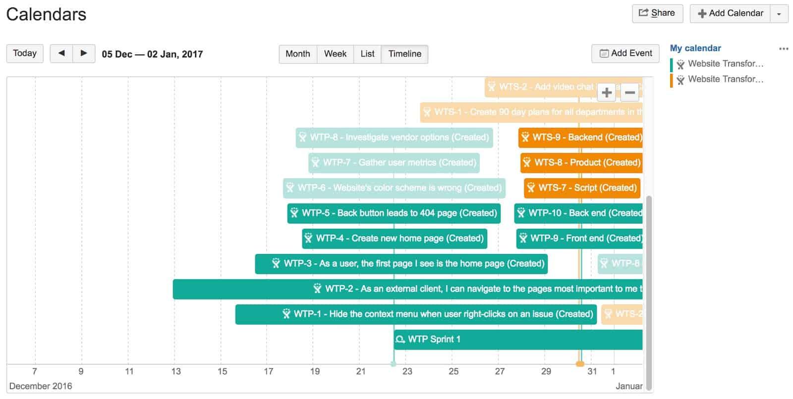 calendars for Confluence