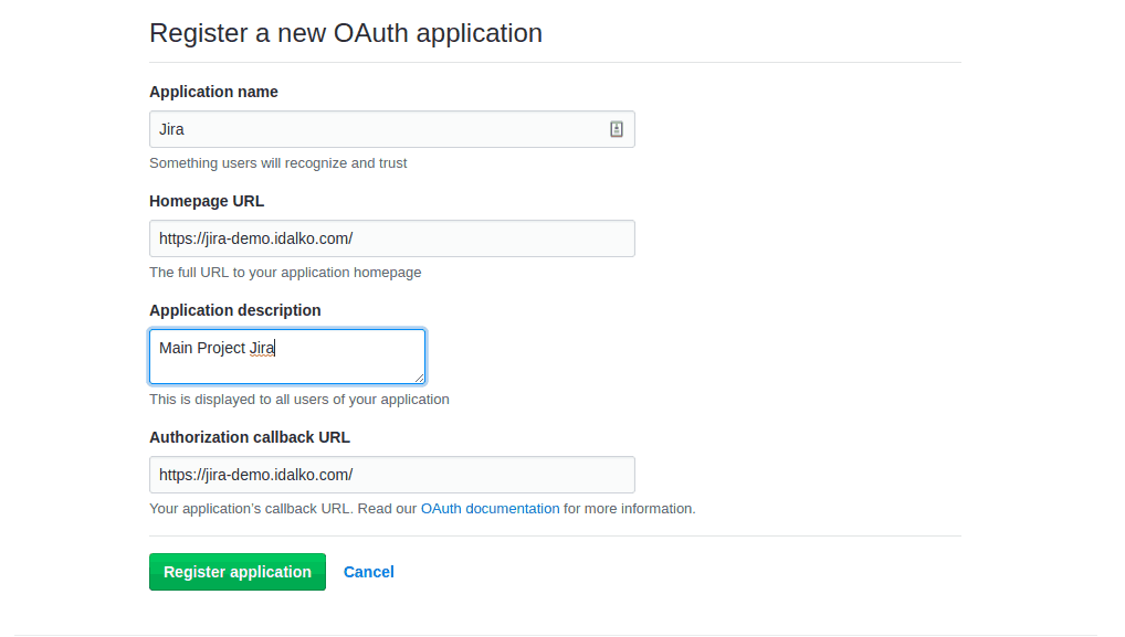 how to integrate jira and github using oauth