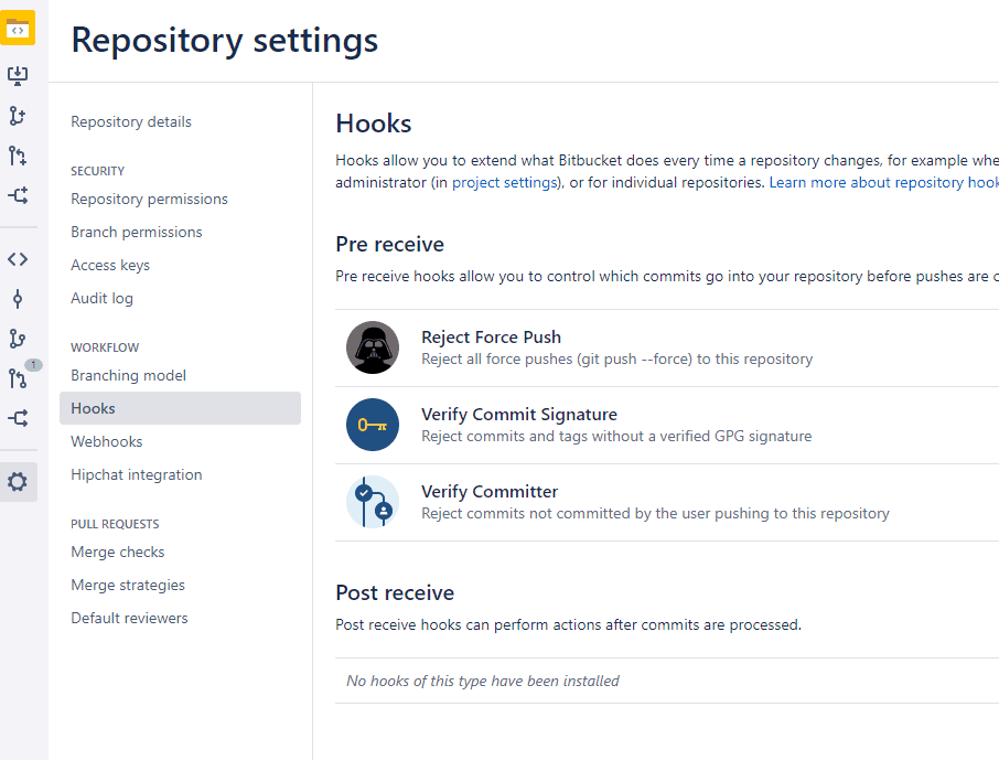 Hooks in Bitbucket
