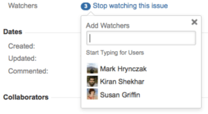 How to add watchers in Jira