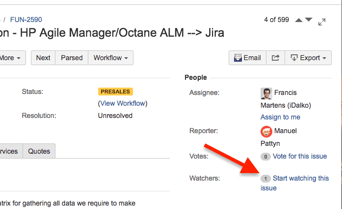 How to watch issues in Jira