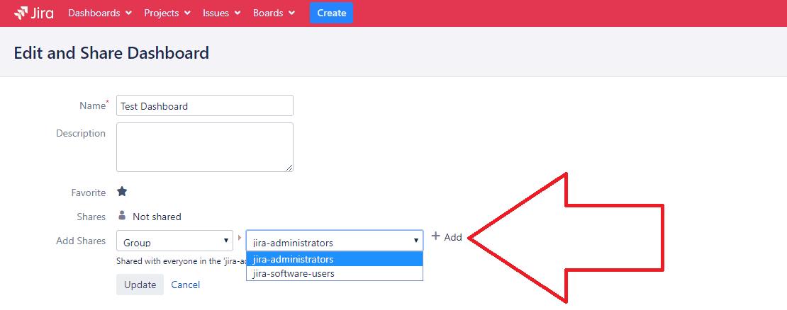 How to share Jira dashboard