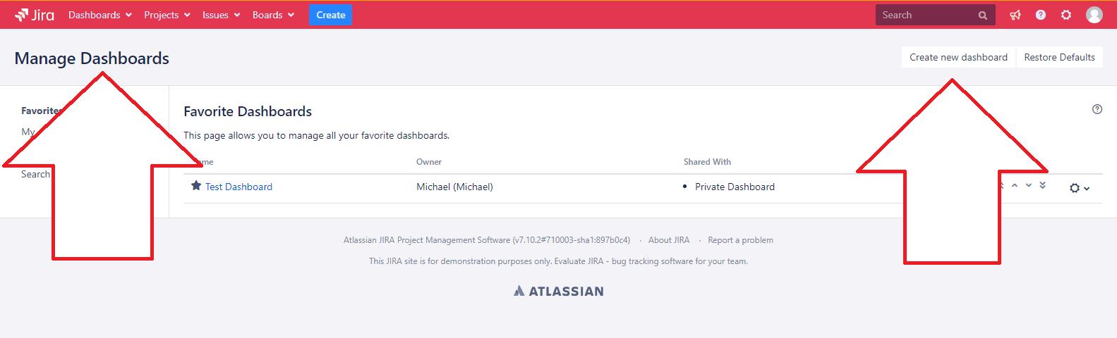 How to create a dashboard in Jira