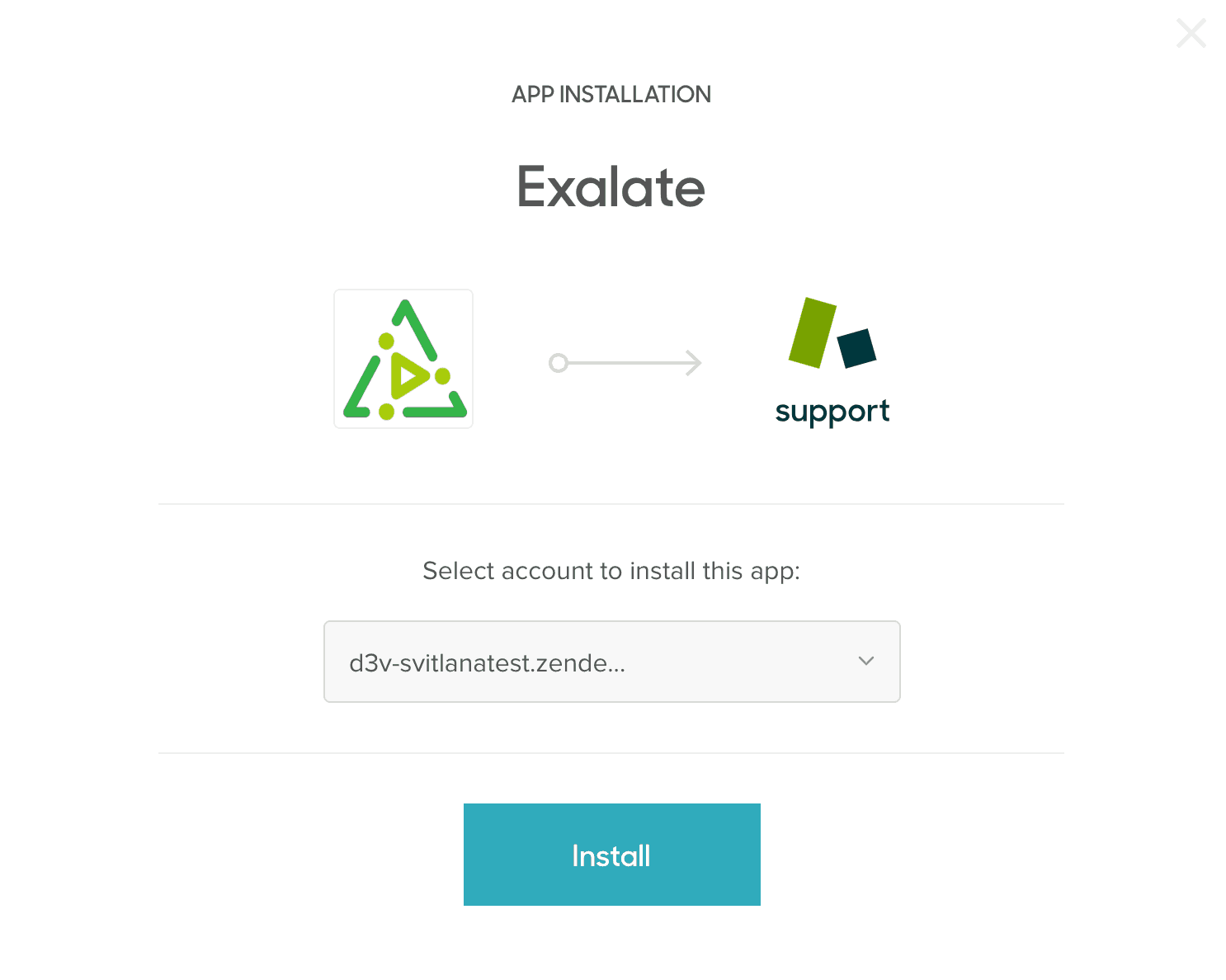 Connect Zendesk Exalate app installation