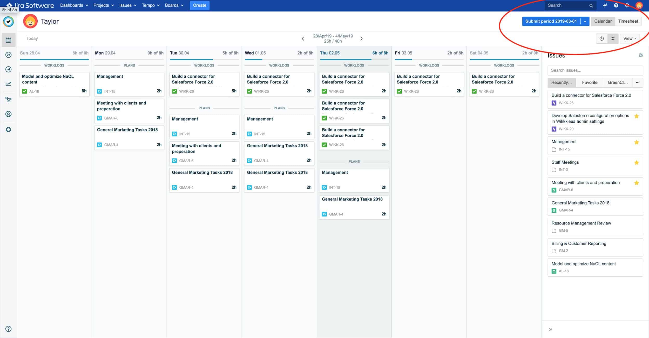 Jira time sheet view