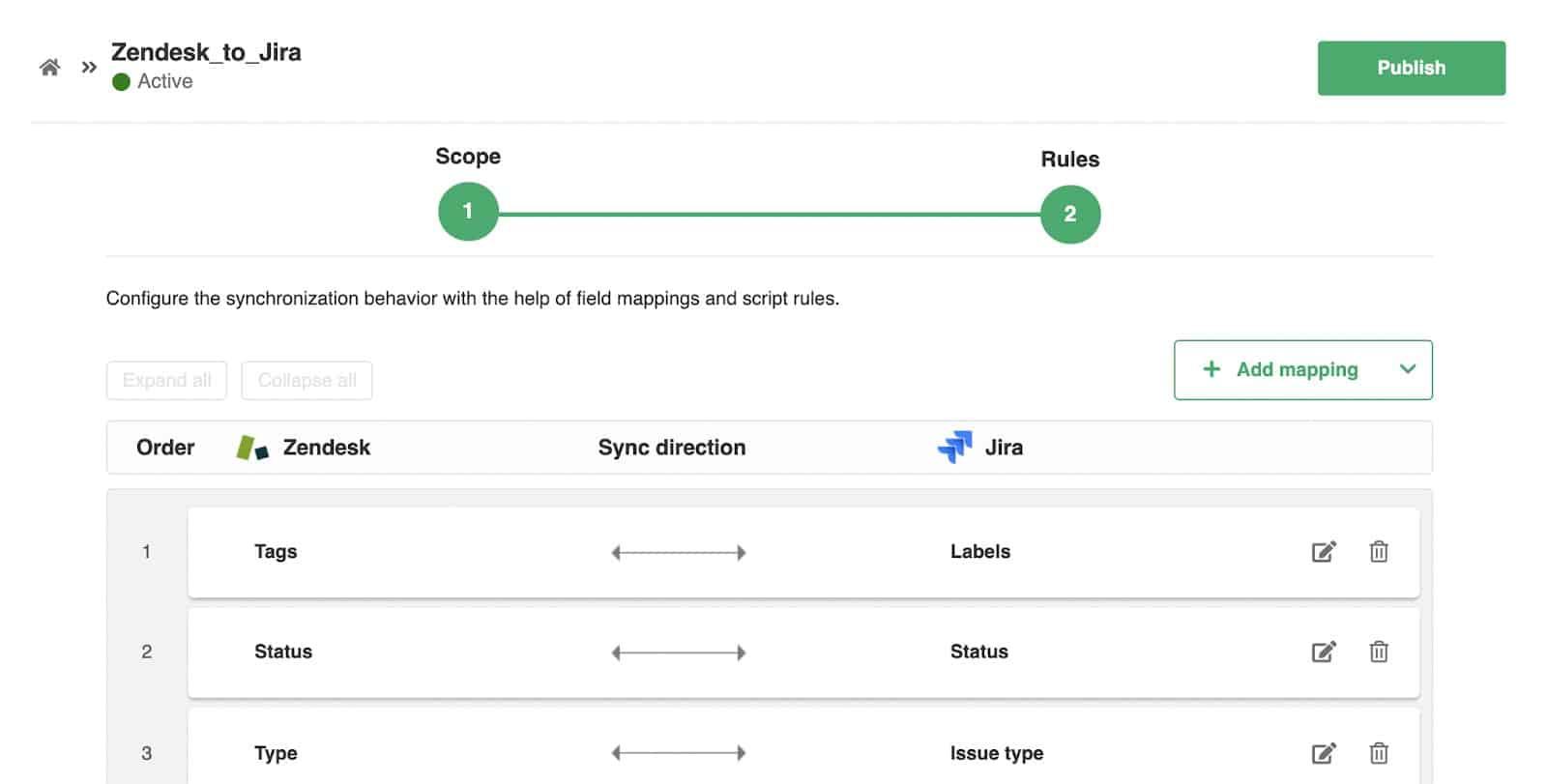 zendesk to jira visual sync rules