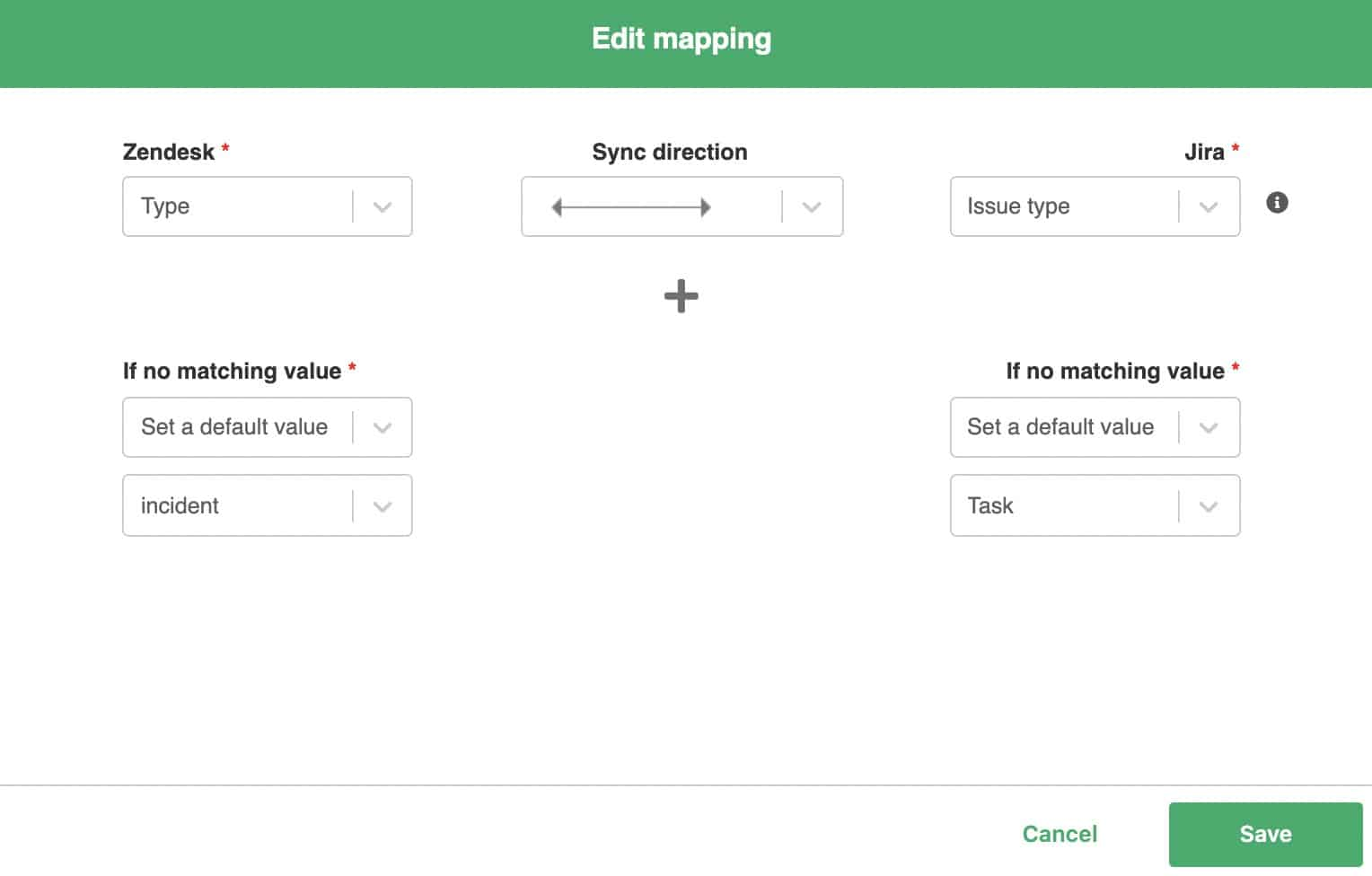 edit jira zendesk mapping