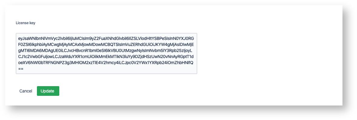 license key for zendesk