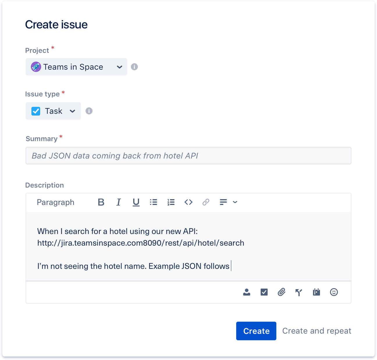 reporting bugs in Jira