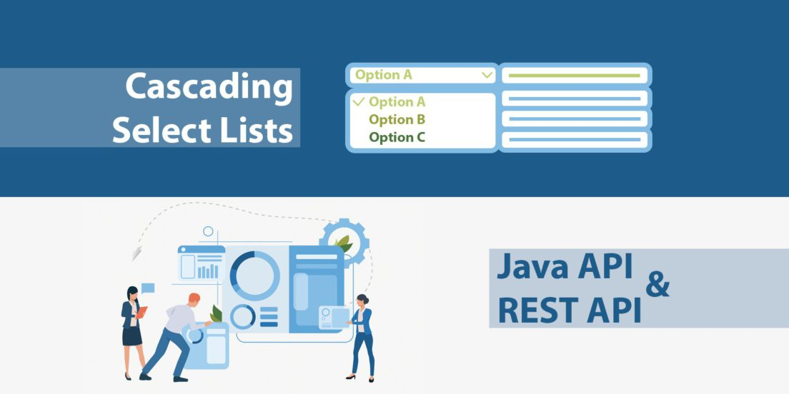 cascading select lists java rest API
