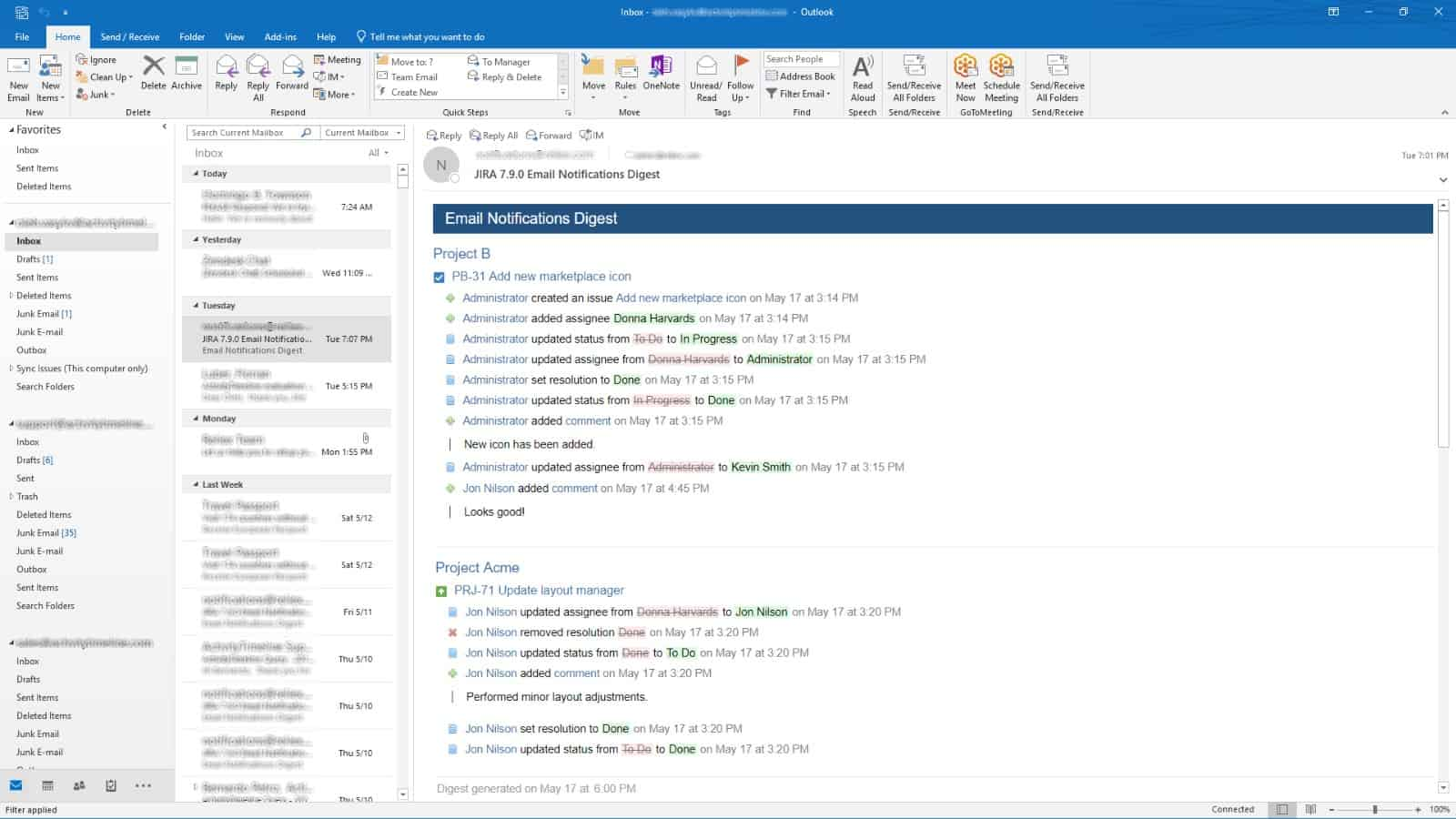 email notification digest for jira