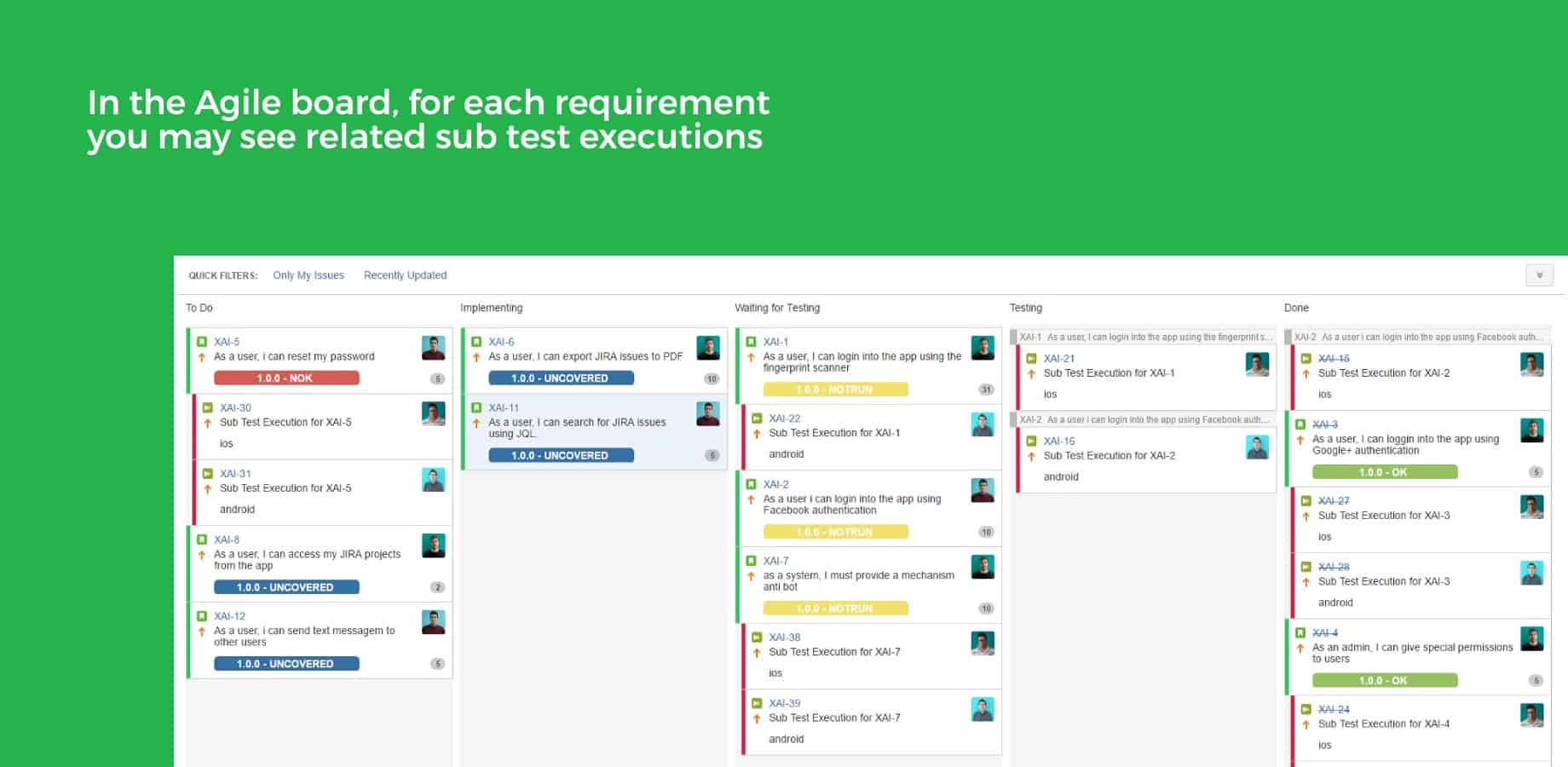 xray agile board for jira