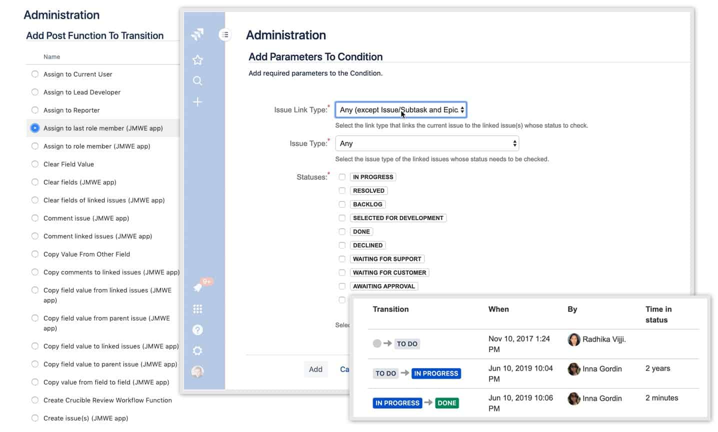 jira misc workflow extension