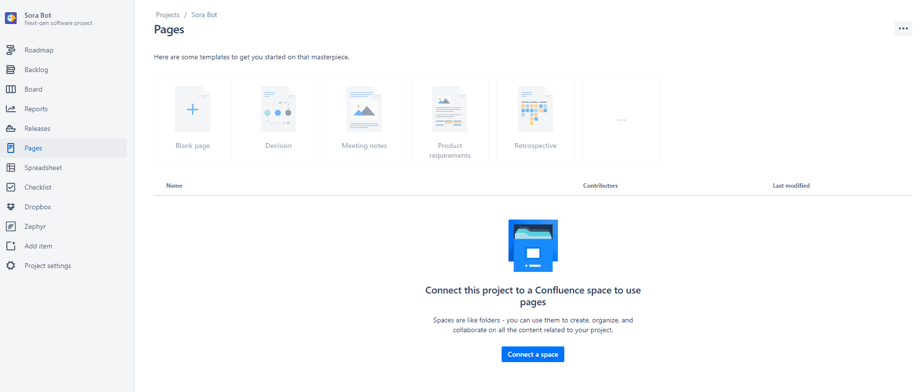 connect jira projects to confluence