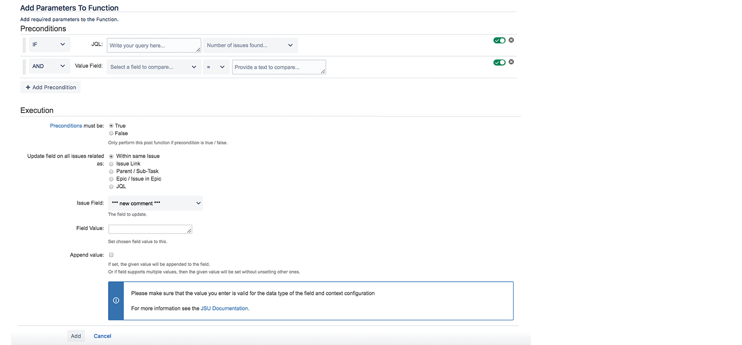JSU Automation Suite for Jira Workflows app