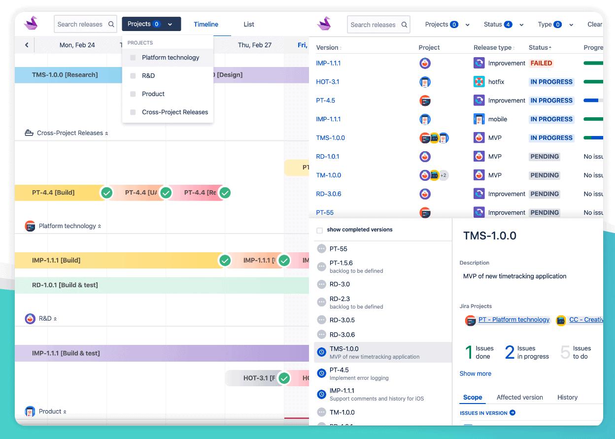 Swanly - Portfolio Release Roadmaps Jira