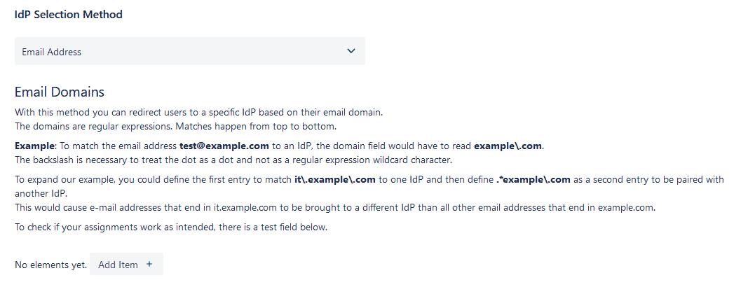 Jira SAML email domains