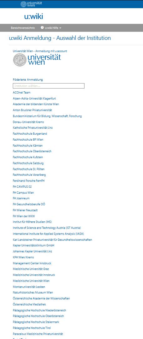 Uni-Wien org selection