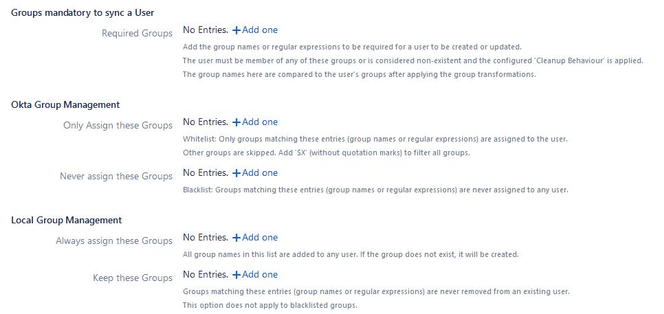 Advanced Group Sync Settings