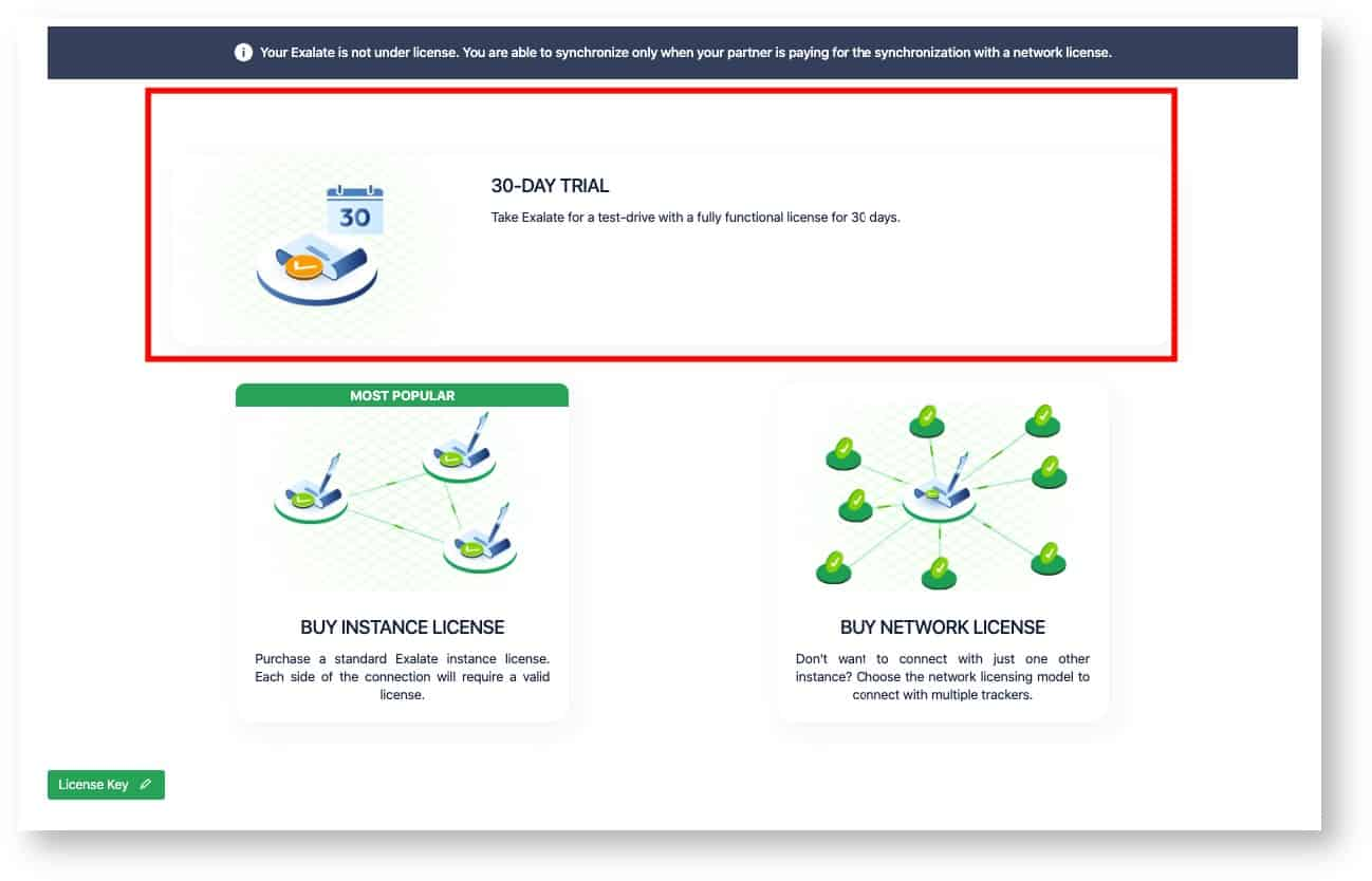 exalate 30-day trial for a Jira HP ALM integration
