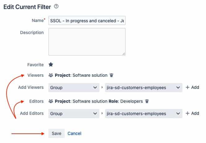 jira filter access