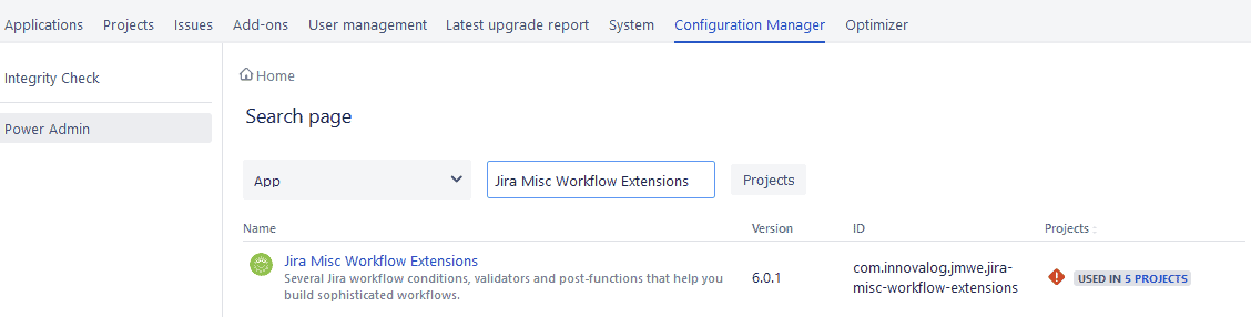 Jira configuration manager