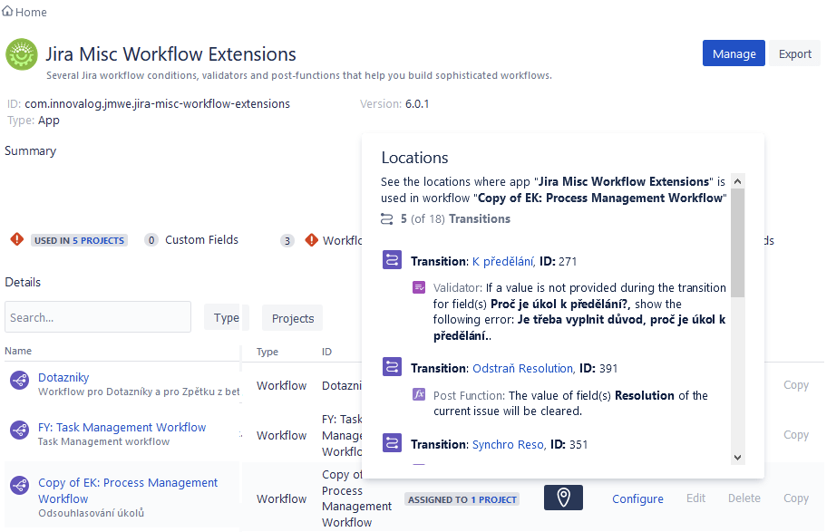 jira misc workflow extensions