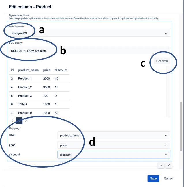 edit columns using SQL in jira