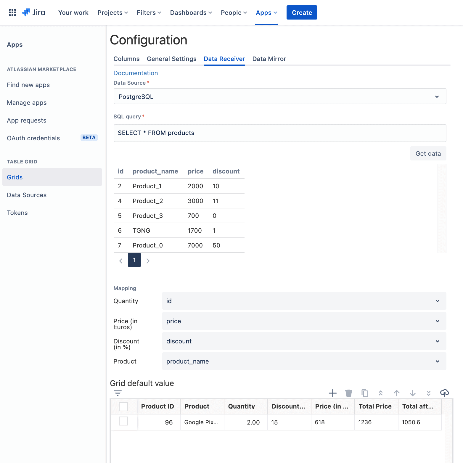 jira quotes data receiver