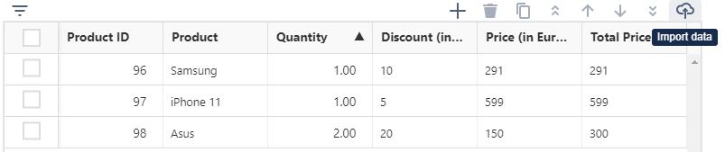import data in Jira TG