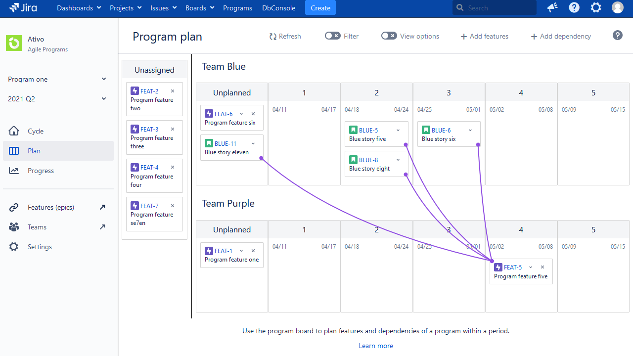 replan features in jira safe