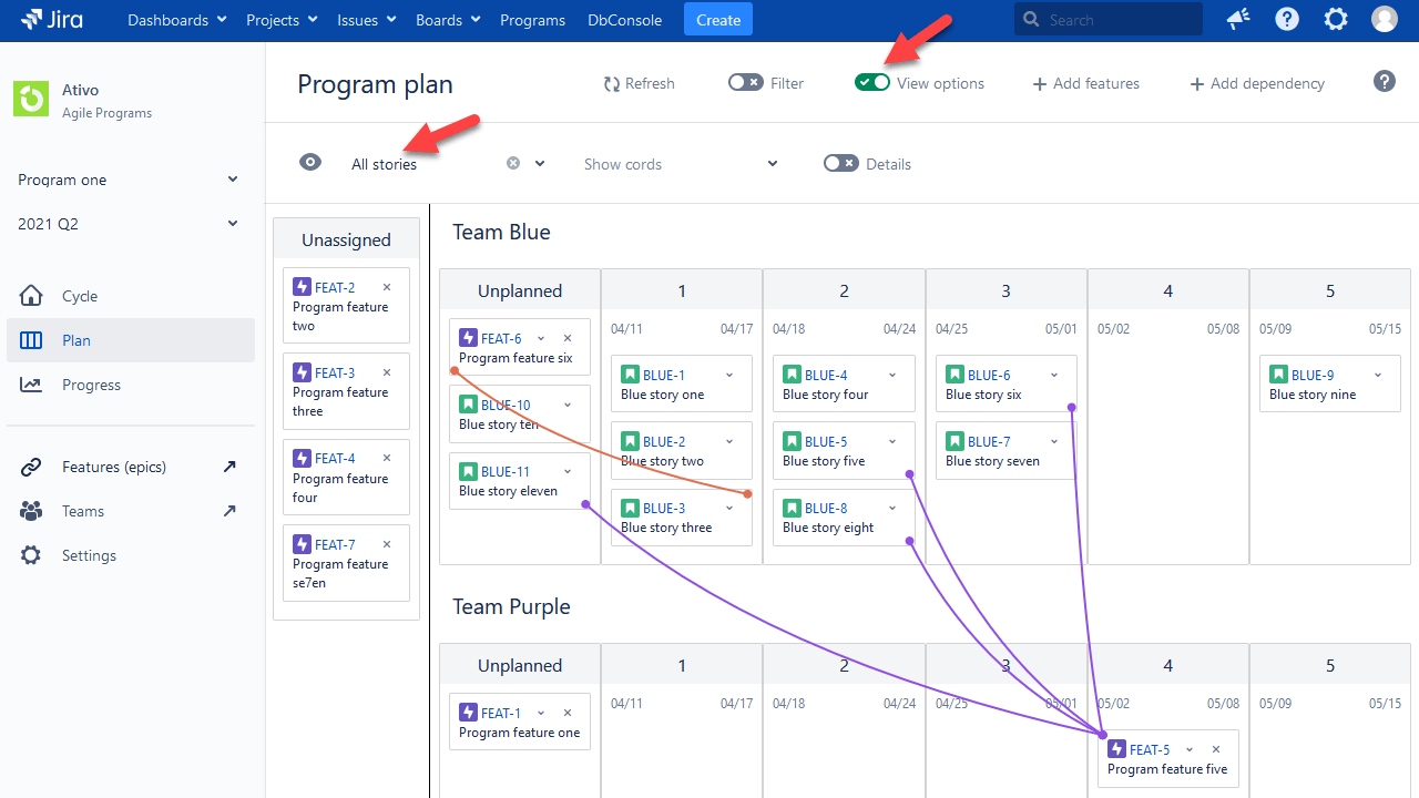 see all stories in jira safe