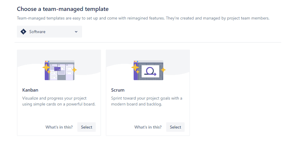 agile projects in jira