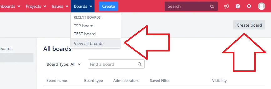 agile boards in jira