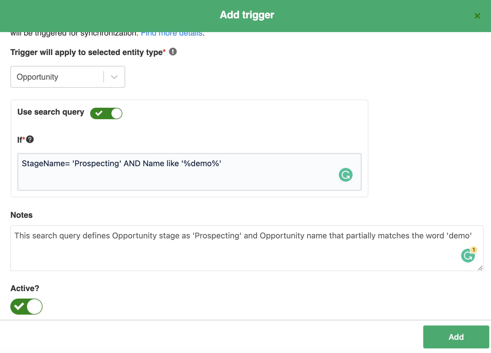 create triggers using SOQL